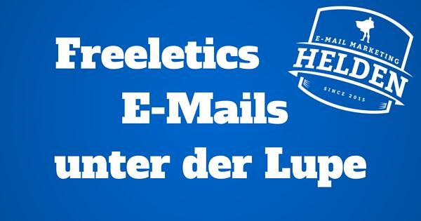 Wie Freeletics ihre E-Mails verbessern könnten