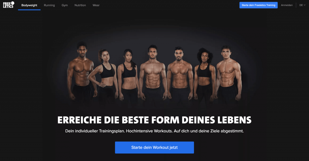 freeletics_website