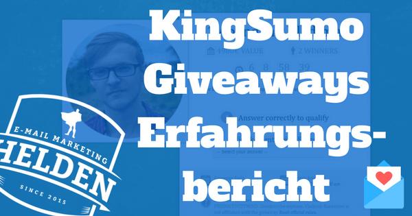 KingSumo Giveaways Erfahrungsbericht