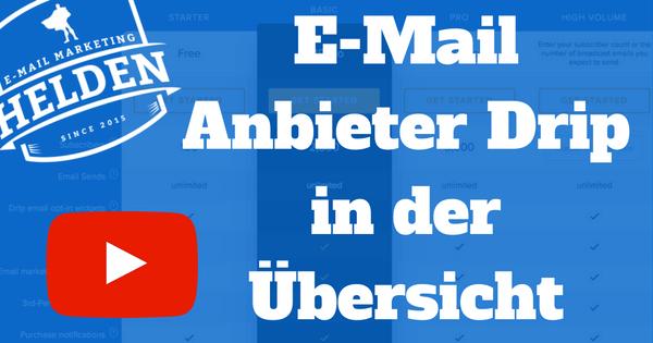 [VIDEO] E-Mail Anbieter Drip in der Übersicht
