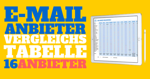 E-Mail Anbieter Vergleichstabelle